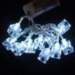 Valguskett 'Valged kuubikud'' 10 LED