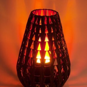 Leegilamp Natural Chevron Lamp nahk