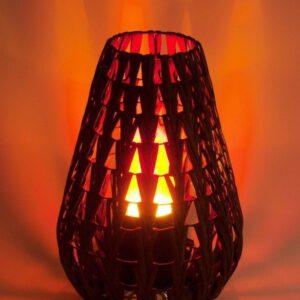Leegilamp Natural Chevron Lamp nahk