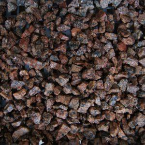 Dekoratiivkillustik Punakas graniit 3/8 500kg bigbag
