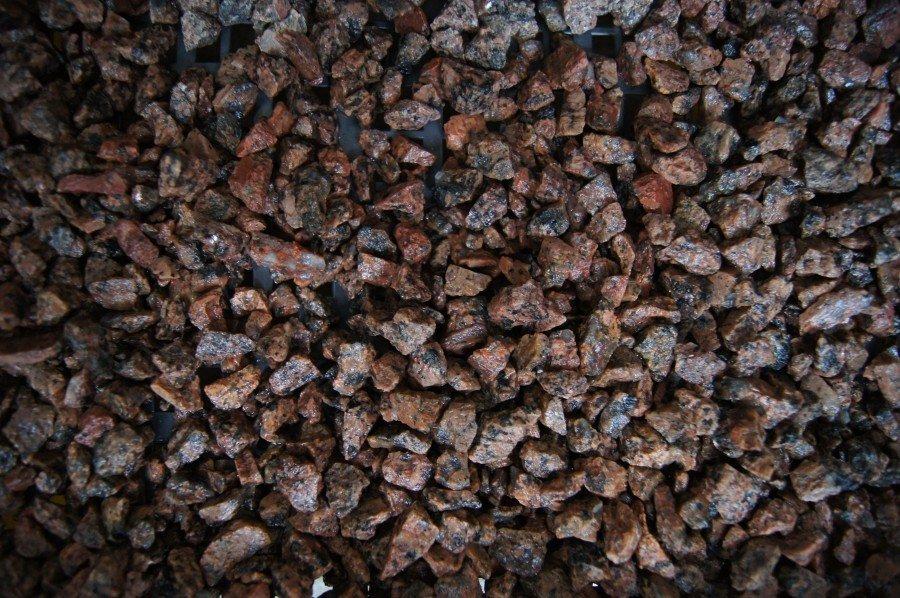 Dekoratiivkillustik graniit punakas 3/8 500kg bigbag