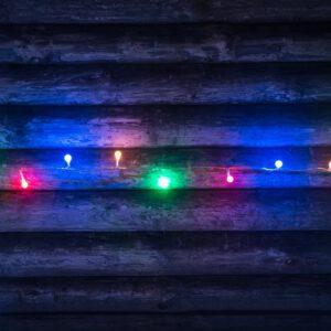 Valguskett 120 LED palli mitmevärviline