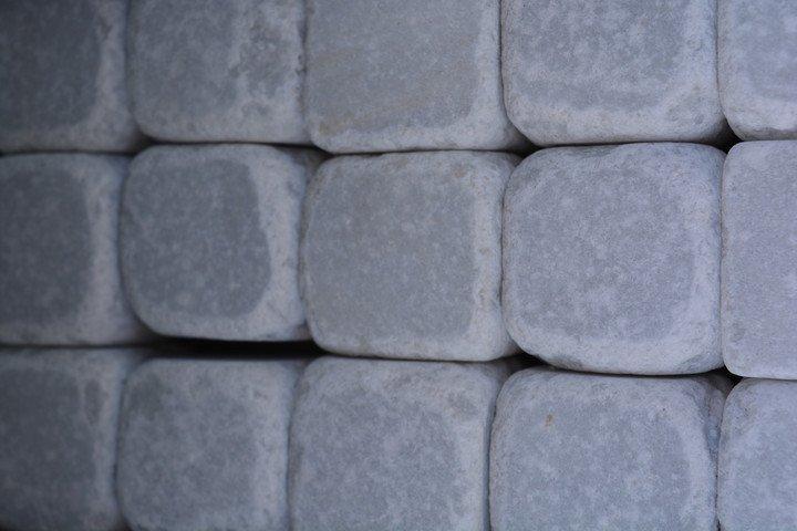 Marmorkuubikud Valge 45×45 lahtiselt