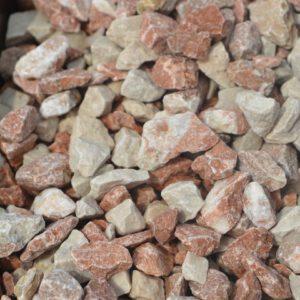 Dekoratiivkillustik mix punakas-valge 12/16 1000kg bigbag
