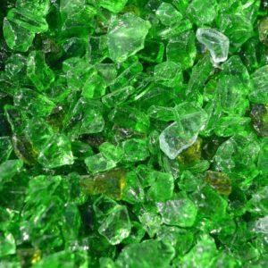 Purustatud klaas Roheline 4/8 lahtiselt