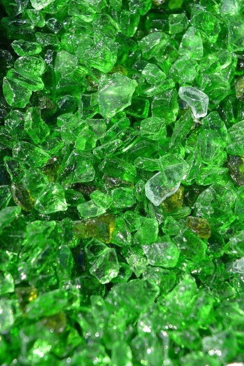 Purustatud klaas Roheline 4/8 8kg
