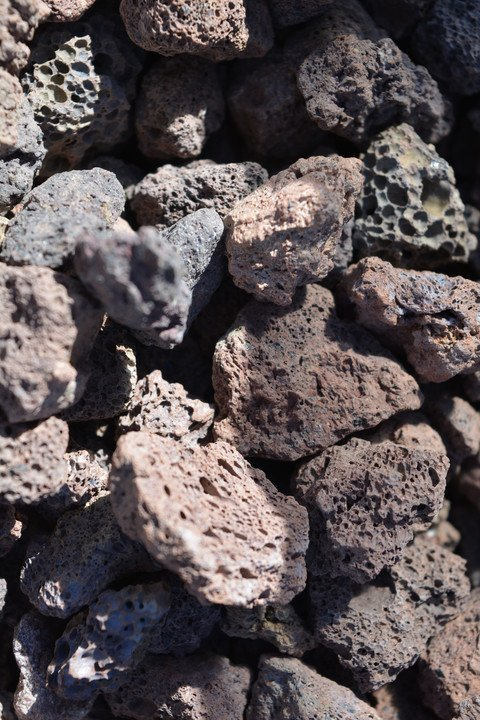 Dekoratiivkivi vulkaaniline punane 10/25 15kg