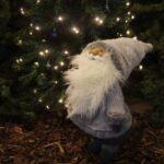 Jõuluvana 84cm valge/hall